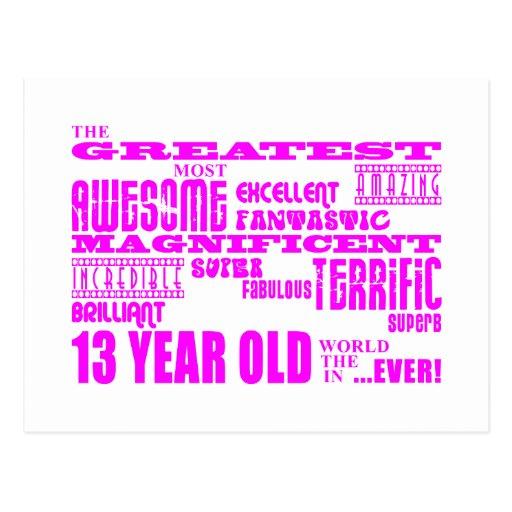 Décimotercero cumpleaños de los chicas: 13 años má postales