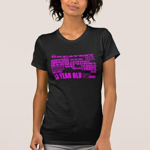 Décimotercero cumpleaños de los chicas: 13 años camiseta