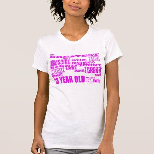 Décimotercero cumpleaños de los chicas: 13 años camisetas