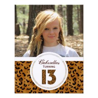 Décimotercero cumpleaños del leopardo Imagen Inv