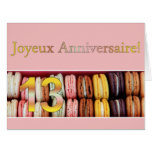 décimotercero ¡Cumpleaños francés Macaron-Joyeux Felicitación
