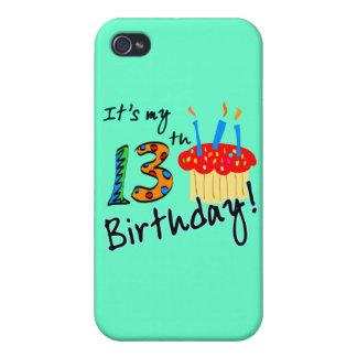 décimotercero Cumpleaños iPhone 4/4S Carcasas