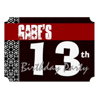 décimotercero Cumpleaños moderno para él negro bla