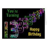 décimotercero cumpleaños - números tarjeton
