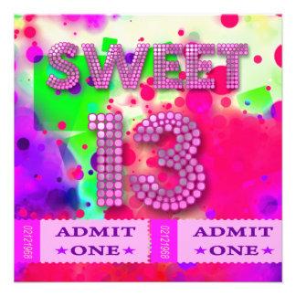 décimotercero Dulce diversión de 13 de cumpleaños Comunicado Personalizado