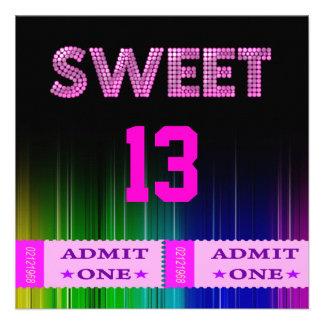 décimotercero Dulce diversión de 13 de cumpleaños Comunicados Personalizados