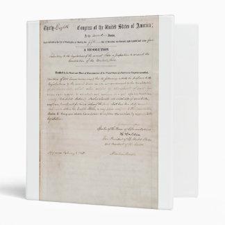 décimotercero Enmienda de la constitución de Estad