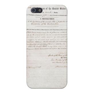 décimotercero Enmienda de la constitución de Estad iPhone 5 Protectores