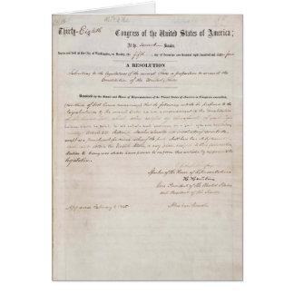 décimotercero Enmienda de la constitución de Estad Tarjetas