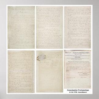 Décimotercero enmienda de la proclamación ORIGINAL Poster