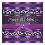 Décimotercero fiesta de cumpleaños de los chicas invitación personalizada