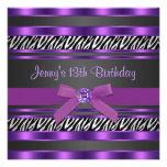 Décimotercero fiesta de cumpleaños de los chicas p invitación personalizada