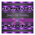 Décimotercero fiesta de cumpleaños de los chicas p comunicado personalizado