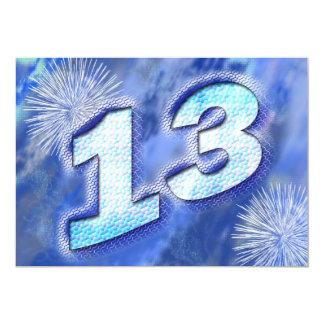 """décimotercero fiesta de cumpleaños invitación 5"""" x 7"""""""