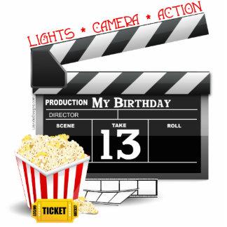décimotercero Fiesta de la película del cumpleaños Fotoescultura Vertical