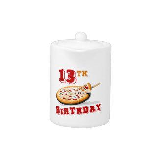 décimotercero Fiesta de la pizza del cumpleaños