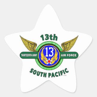 """décimotercero FUERZA AÉREA """"SOUTH PACIFIC"""" WW II Calcomanías Forma De Estrellaes Personalizadas"""