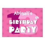 décimotercero La fiesta de cumpleaños 13 años de Invitaciones Personales