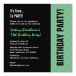 décimotercero Menta moderna del cumpleaños Invitación 13,3 Cm X 13,3cm
