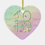 décimotercero Ornamento del corazón del recuerdo d Ornaments Para Arbol De Navidad