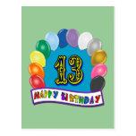 décimotercero Regalos de cumpleaños con diseño cla