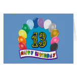 décimotercero Regalos de cumpleaños con diseño cla Tarjetón