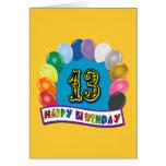 décimotercero Regalos de cumpleaños con diseño cla Felicitacion