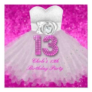 """Décimotercero rosas fuertes de las chicas invitación 5.25"""" x 5.25"""""""