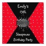 Décimotercero Sleepover del cumpleaños de los Invitación