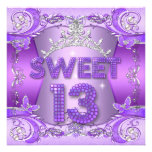 Décimotercero tiara de plata púrpura de la fiesta  comunicado personal
