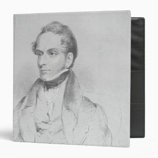 Decimus Burton, lithograph by Maxim Gauci 3 Ring Binder