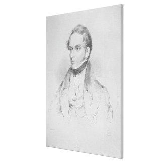 Decimus Burton, lithograph by Maxim Gauci Canvas Print
