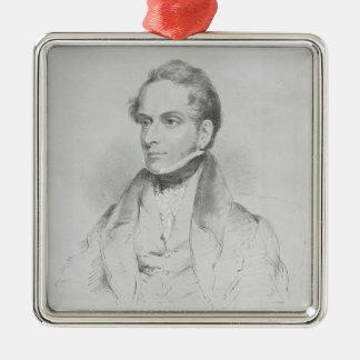 Decimus Burton, lithograph by Maxim Gauci Metal Ornament