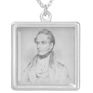 Decimus Burton, lithograph by Maxim Gauci Square Pendant Necklace