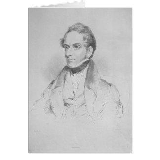Decimus Burton, litografía por la máxima Gauci Tarjeta De Felicitación