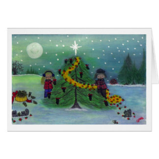 """Dec'ing the Tree - Nature's Way!"" Card"