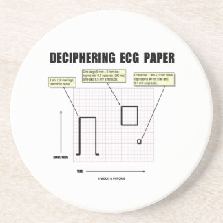 Deciphering ECG Paper Beverage Coasters