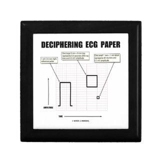 Deciphering ECG Paper Keepsake Box