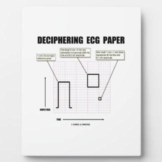 Deciphering ECG Paper Plaque