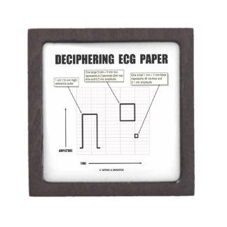 Deciphering ECG Paper Premium Keepsake Box