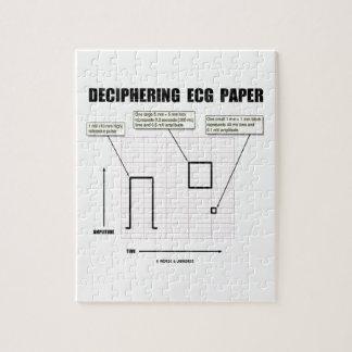 Deciphering ECG Paper Jigsaw Puzzles
