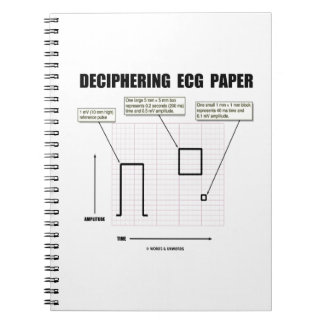 Deciphering ECG Paper Spiral Notebook