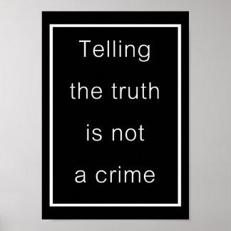 Decir la verdad no es un crimen (el poster negro)