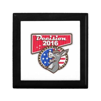 Decision 2016 Democrat Donkey Jewelry Box