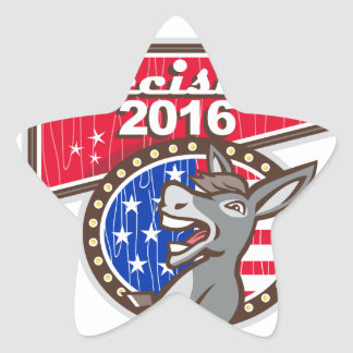 Decision 2016 Democrat Donkey Star Sticker