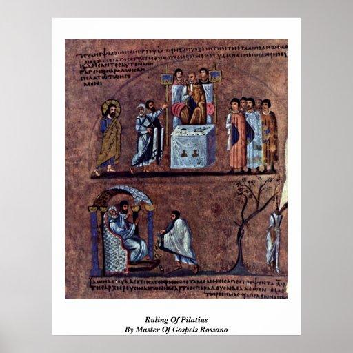 Decisión de Pilatius por el amo de los evangelios  Impresiones