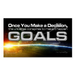 Decision Goal Card Double-Sided Standard Business Cards (Pack Of 100)