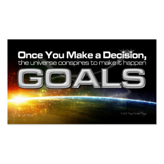 Decision Goal Card Business Card