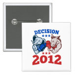 Decisión republicana 2012 del elefante del burro d pin
