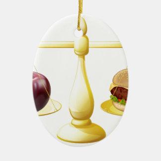 Decisión sana de las escalas de la consumición adorno ovalado de cerámica
